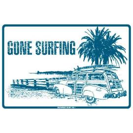 PLAQUE GONE SURFING WOODY