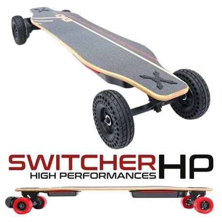 Switcher HP Skate électrique hautes performances convertible tout terrain - Longboard