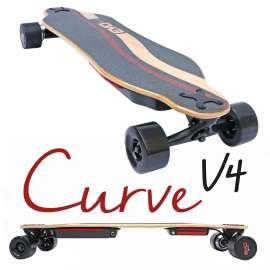 Curve v4 - Longboard électrique puissant double moteur plateau flex et batterie interchangeable
