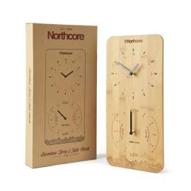 Horloge murale Northcore Time and Tide en bambou