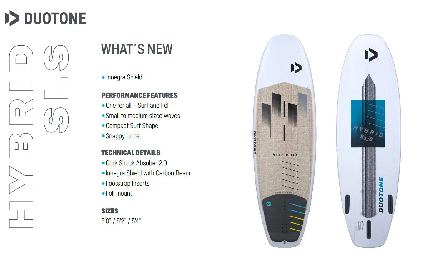 Planche de surfkite et foil Duotone Hybrid SLS 2021