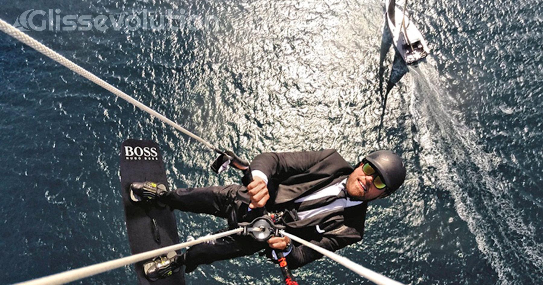 Alex Thomson, un kitesurfeur d'exception qui aime les défis saut en kite