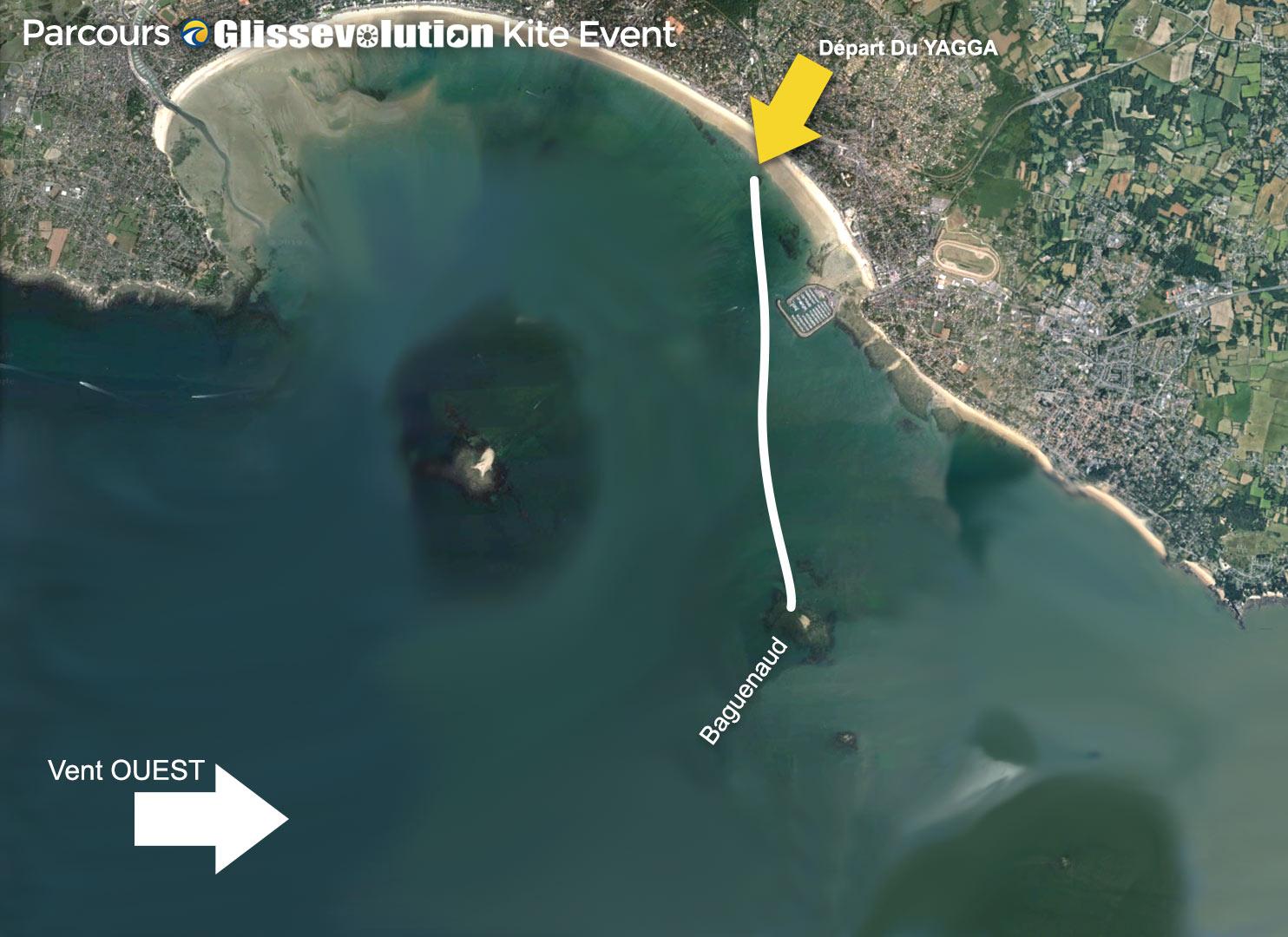 1 Vent Ouest Baguenaud parcours kitesurf