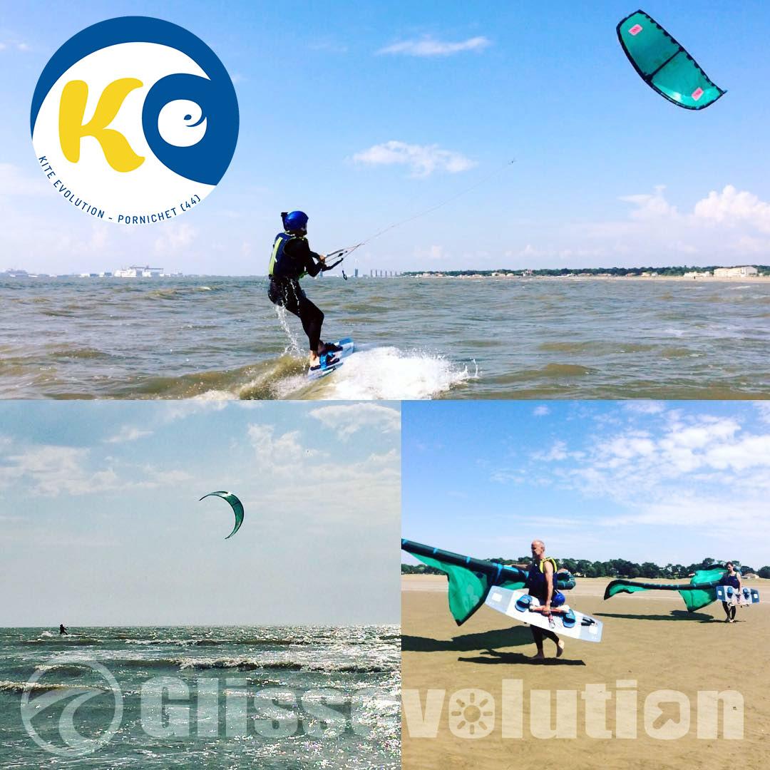 bon cadeau pour apprendre le kitesurf à pornichet, la baule saint brevin 44 en loire atlantique