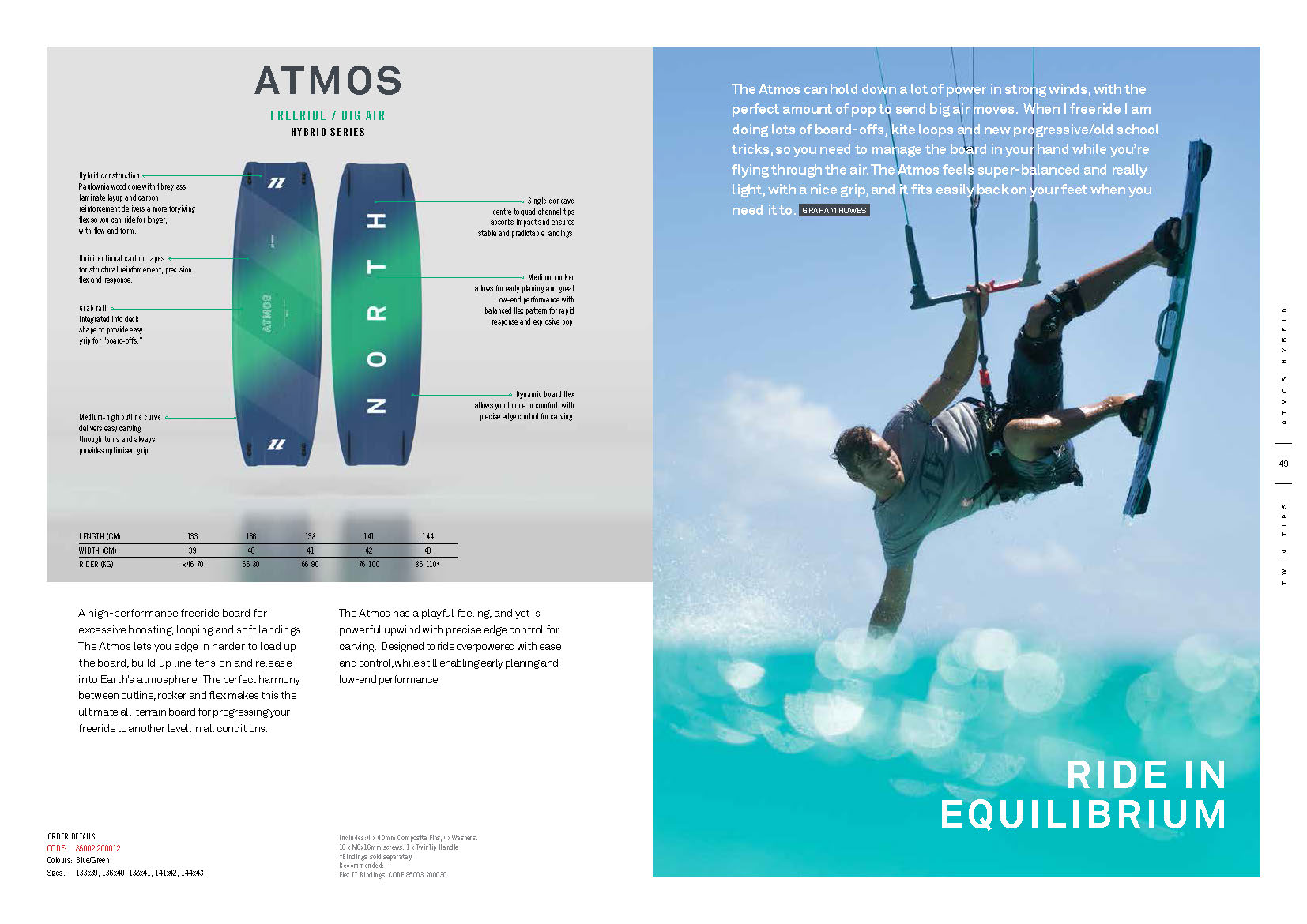 Atmos planche de kite north 2020