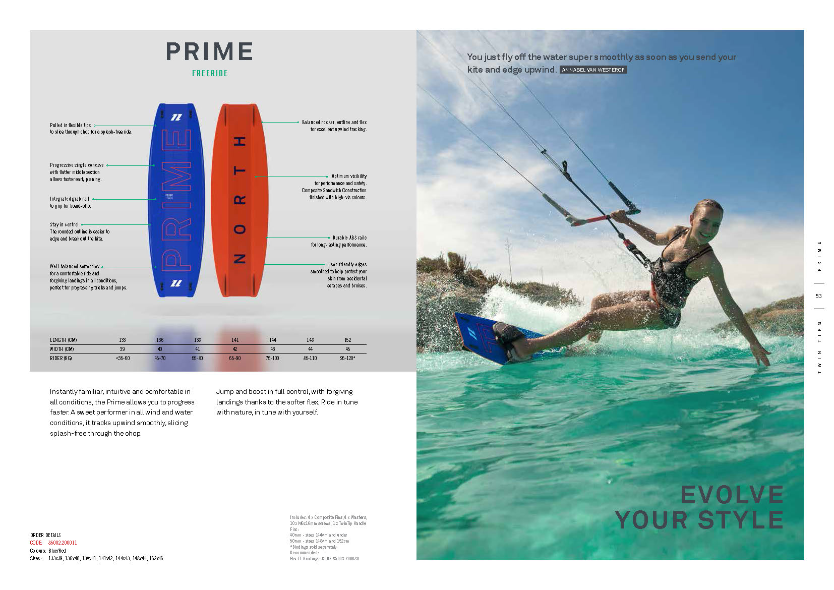 PRIME planche de kite north 2020