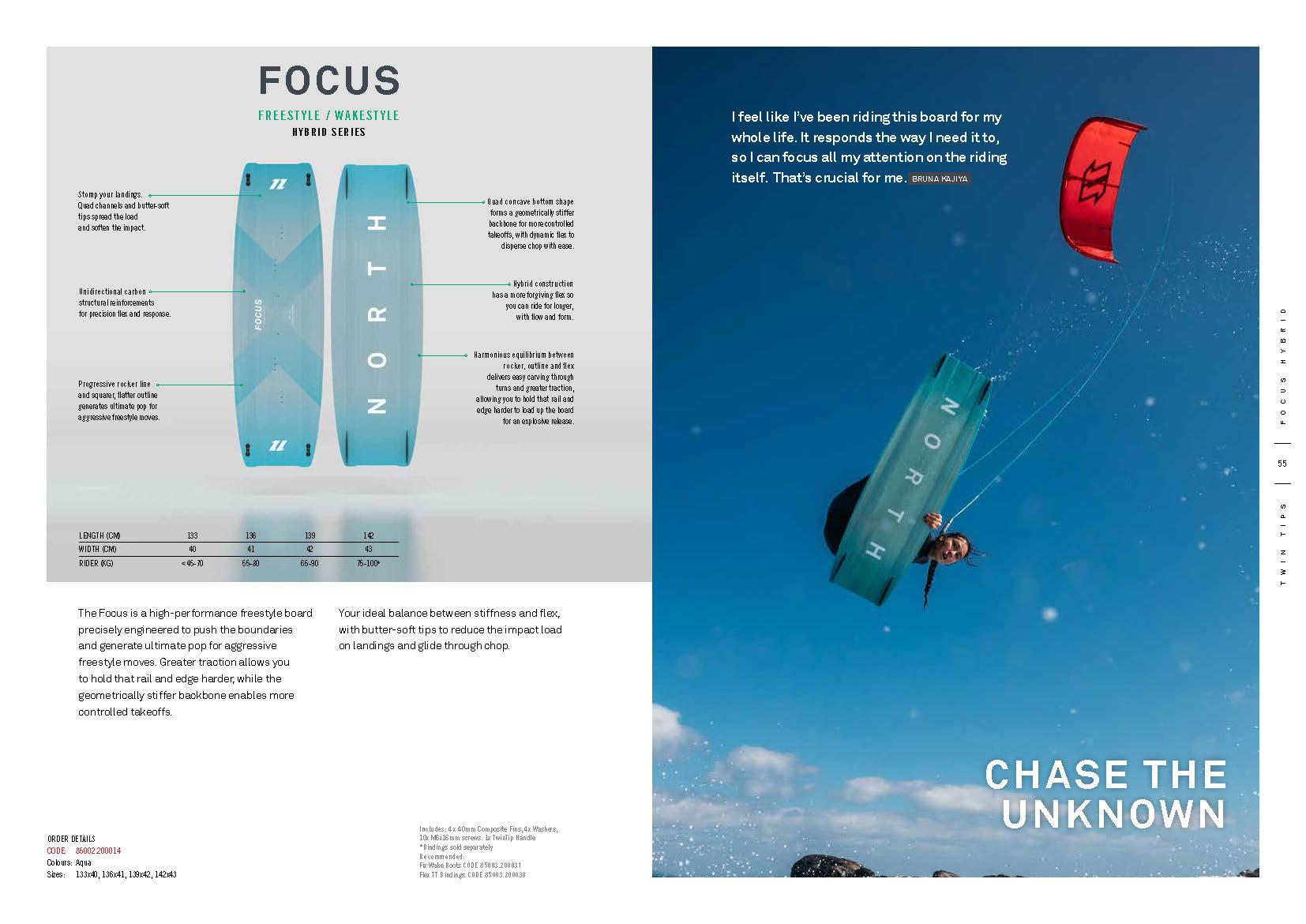 FOCUS planche de kite north 2020