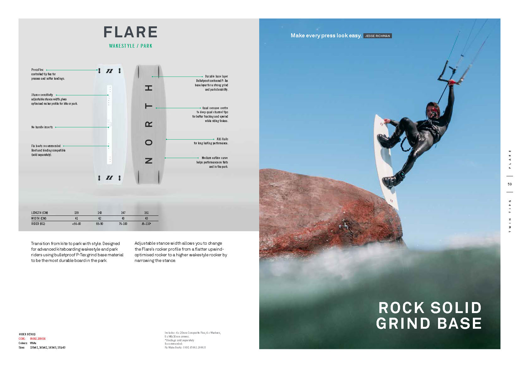 FLARE planche de kite north 2020