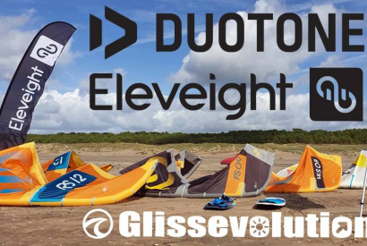 Test matos Glissevolution à La Baule 26 octobre : Duotone et Eleveight 2020